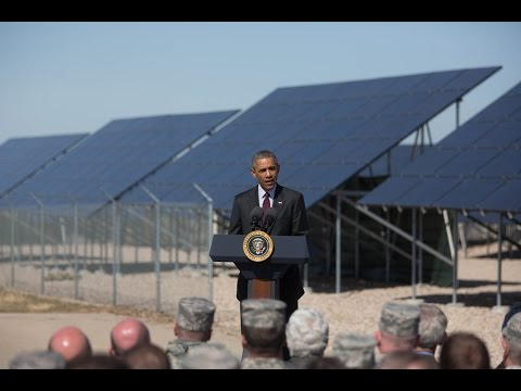Barak Obama talking up the solar power industry